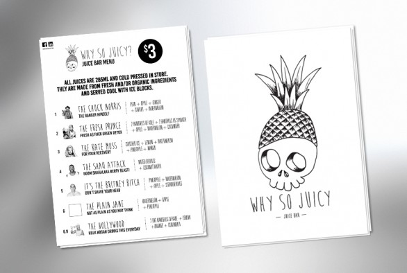 Why So Juicy Menu